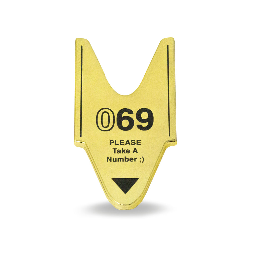 69 Ticket Pin
