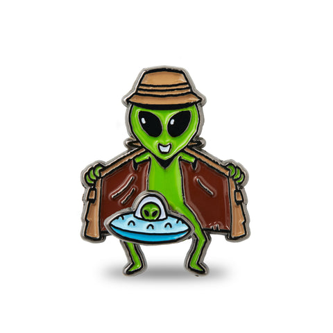 Alien Flasher Pin