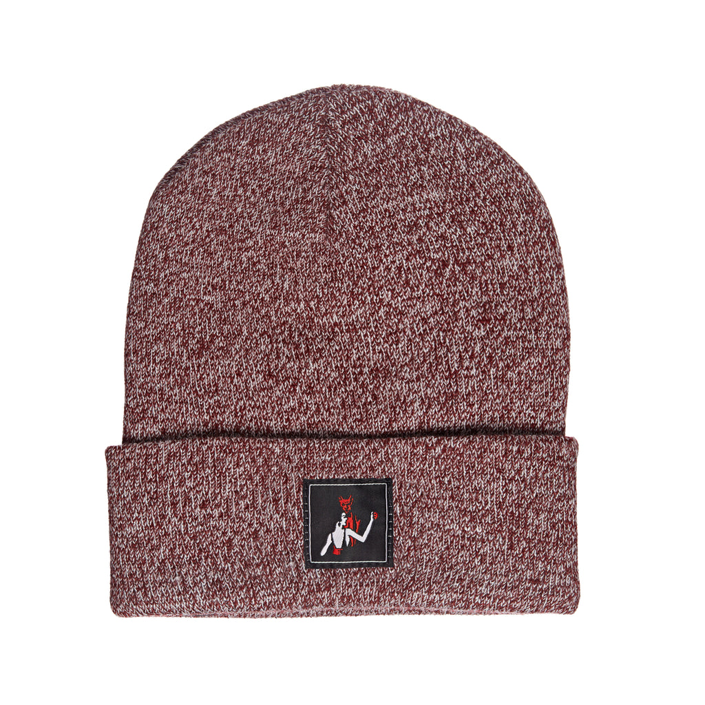 Dance with the Devil Beanie - Burgundy Marl