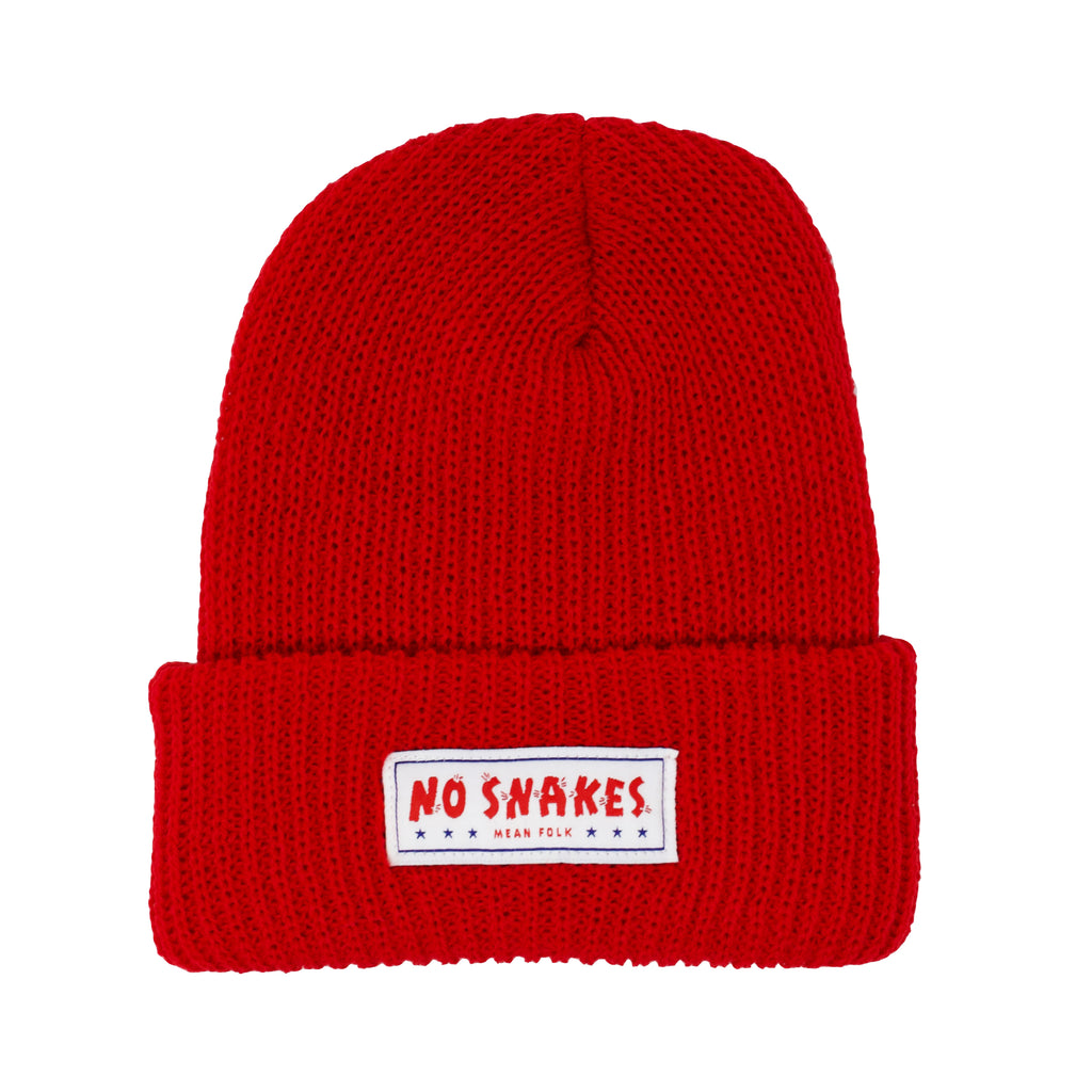 No Snakes Beanie - Red