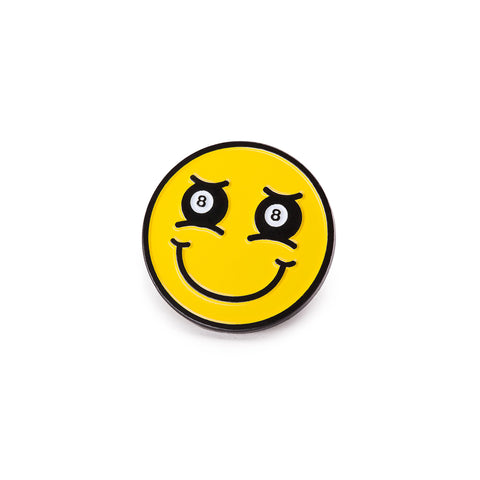 8-ball Smiley Pin