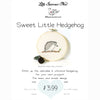 sweet hedgehog hand embroidery pattern