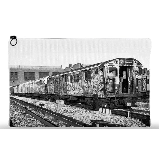 Tagged Subway Car Urban City Cosmetic Case Travel Bag