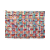 Bright Multi Tweed Chanel Like Printed Cosmetic Bag