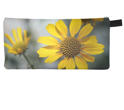 Encelia Farinosa Cosmetic Pencil Case Modern Brittlebush Printed Zipper Clutch Sonoran Desert Makeup Case