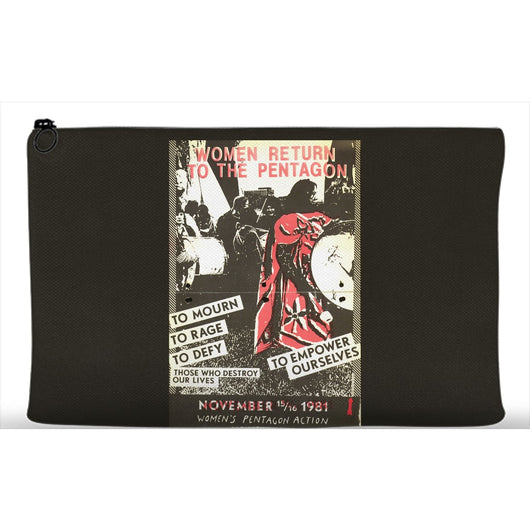 Women Return to the Pentagon Protest Poster Printed Cosmetic Makeup Travel Bag