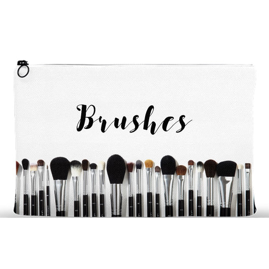 Makeup Brushes Cosmetic Bag Face Brush Holder Clutch