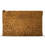 Hammered Copper Printed Zip Clutch Zipper Bags