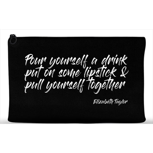 Elizabeth Taylor Quote Beauty Makeup Artist Bag Cosmetic Travel Zip Pouch