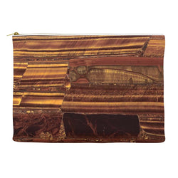 Tigers Eye Semi Precious Stone Printed Cosmetic Clutch Makeup Bag