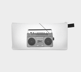 Boom Box Old School 80's Retro Cosmetic & Pencil Case - BBoy BGirl Zipper Pouch