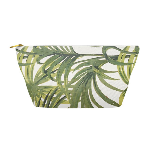 Hollywood Botanical Palms Accessory Pouches Tropical Print Makeup Bag
