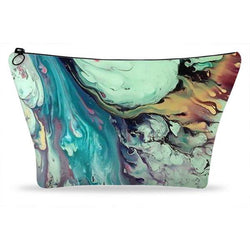 Multi Marble Printed Cosmetic and Makeup Case