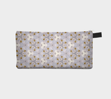 White Flower Abstraction 1 - Cosmetic Pencil Tool Case Pouch