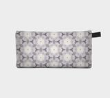 White Flower Abstraction 3 - Pencil Pouch Cosmetic Case