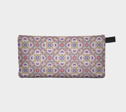 Geometric Pastel Motif 1 Makeup Storage Case  Cosmetic Pouch Pencil Case Notions Bag