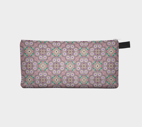 Geometric Pastel Motif 3  - Makeup Storage Case Cosmetic Pouch Pencil Case