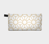 Gold Geometric Pattern 1 - Cosmetic Pouch Pencil Case Brides Maids Gift Zip Pouch Pouch Makeup Storage Case