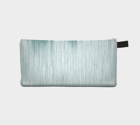 Teal Streak - Cosmetic Pouch Pencil Case Brides Maids Gift Zip Pouch Makeup Storage Case