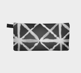 Shibori 8 Contemporary Tie Dye Cosmetic Case Pencil Pouch