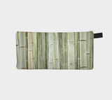 Painted Bamboo Cosmetic Zip Case Printed Clutch