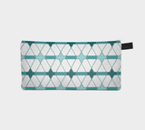 Painted Geometric1 Cosmetic Pencil Case Printed Zip Pouch