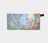 Neon Marble Pencil Case Cool School Supplies Zip Case - Make Up Cosmetic Bag