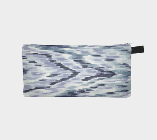 Watercolor Blues Modern Makeup Case - Pencil Zipper Bag - Zip Clutch