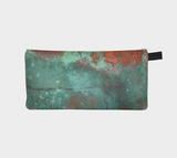 Rusted Copper2 Metal Makeup Case  - Modern Pencil Case Cosmetic Bag