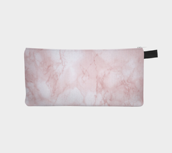 Rose Marble Pencil Case - Marble Cosmetic Case Makeup Bag