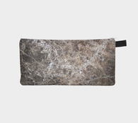 Dark Marble Cosmetic & Pencil Case - Modern Makeup Case