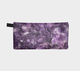 Amethyst Cosmetic & Pencil Case - Modern Mineral Makeup Bag