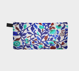 Medieval Floral Cosmetic & Pencil Case - Flowery Motif Pencil Case
