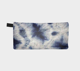 Shibori 26 - Japanese Resist Dye Fabric Printed Zipper Clutch . Cosmetic & Pencil Case