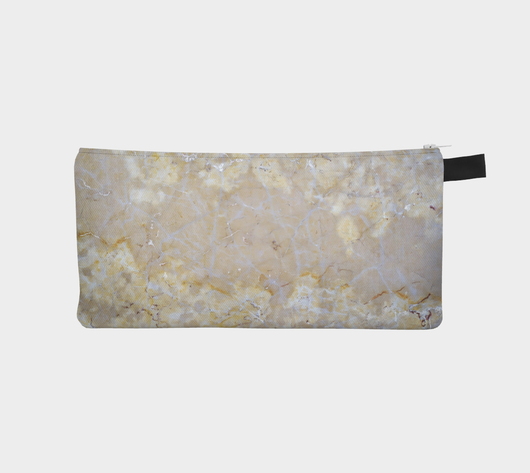 Natural Marble Printed Cosmetic and Pencil Case - Marbled Makeup Bag - Marble Clutch Bag