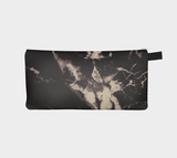 Black & Cream Marble Printed Cosmetic & Pencil Case - Marbled Makeup Bag - Marble Clutch Bag