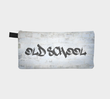 Old School Ghetto Hip Hop Cosmetic & Pencil Zip Clutch - Printed Makeup Bag - Urban Street Zipper Case