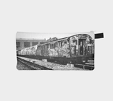 Subway Car Old School City Tagged Cosmetic & Pencil Case - Urban Makeup Bag