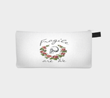 Skull & Roses Fragile are We Cosmetic and Pencil Case - Boho Gothic Biker Chic Makeup Bag