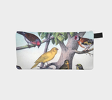 Tropical Birds West Hollywood Botanical 50's Printed Zip Clutch