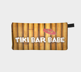 Tiki Bar Babe Printed Zip Clutch