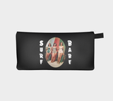 Surfer Babe Vintage Beach Surfboard Girls Printed Zip Clutch