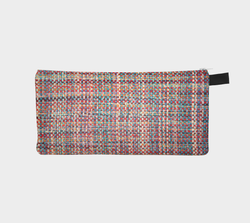 Bright Multi Tweed Chanel Like Printed Cosmetic Clutch