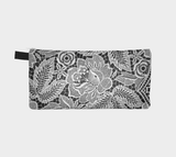 White Floral Lace 4 Modern Printed Evening Clutch