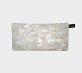 Pearl Tile Cosmetic and Travel Pencil Case Makeup Bag Zip Pouch
