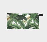 Tropical 2 Beach Botanical Palm Printed Cosmetic Travel Bag
