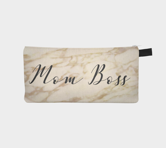 Mom Boss Cosmetic Travel Clutch Office Makeup Bag