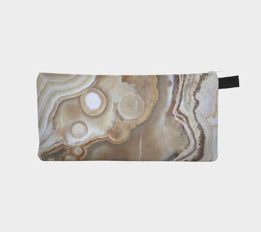 Blonde Onyx Marble Makeup Cosmetic Clutch Boho Hippie Festival Gear