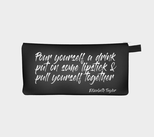 Elizabeth Taylor Quote Beauty Makeup Artist Bag Cosmetic Travel Zip Clutch