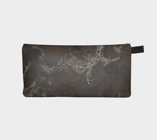 Planet Rock Marble Cosmetic & Pencil Case - Modern Printed Zipper Clutch - Marble Makeup Case